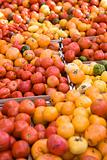 Tomatoes at a market