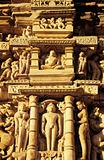 Carvings on temple at khajuraho