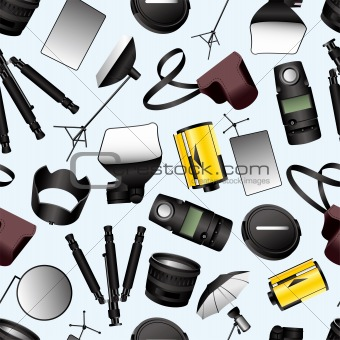 Photographic equipment seamless pattern