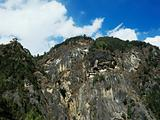 Taktshang monastery and cliffs bhutan
