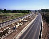 A dual carriageway under construction