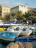Boats in a kyrenia harbour