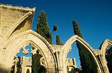 Bellapais abbey near kyrenia cyprus