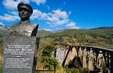 Monument at tara bridge montenegro