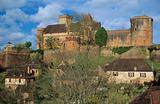 Castelnau castle in lot france