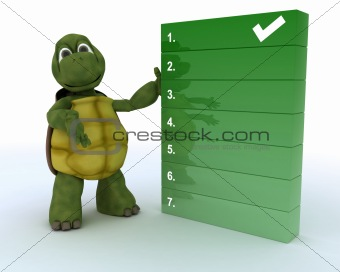 tortoise with a to do list