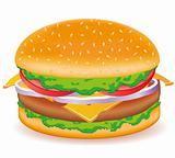 cheeseburger vector illustration