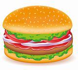 hamburgers vector illustration