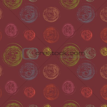 Abstract seamless background with varicoloured circles