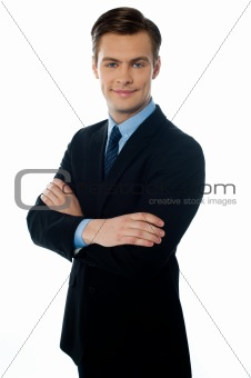 Portrait of smiling young executive