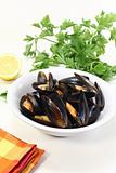 steamed mussels in a bowl