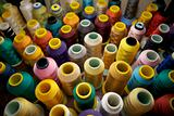 Multicolored Spools of Thread