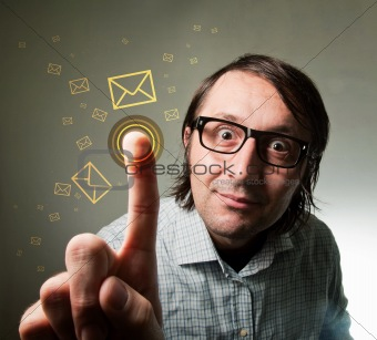 Touch-screen mail inbox