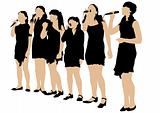 Young women singers