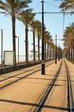 Coastal tram track