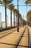 Coastal tram track