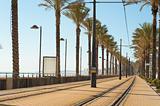 Alicante tram track