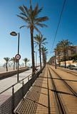 Beach tram track