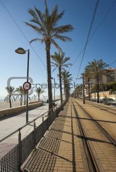 Beach tram track
