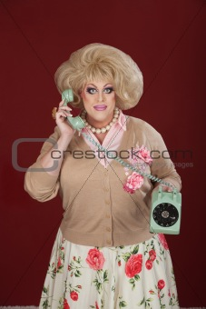 Drag Queen With Telephone