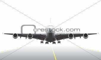 Landing aircraft