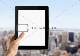 Showing Blank Digital Tablet