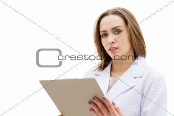 Beautiful young doctor woman