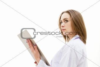Beautiful young doctor woman