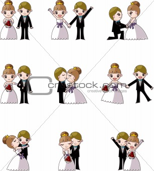 set of wedding ,Bridegroom and Bride