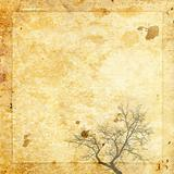 paper background vintage tree