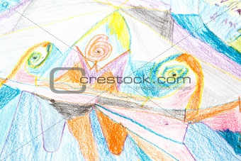 Abstract child painting