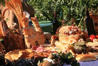 Market stall at the Harvest Festival in Mali Losinj