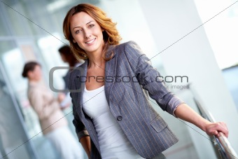 Charming businesswoman