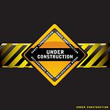 Under construction black