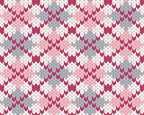Seamless knitted pattern for clothing