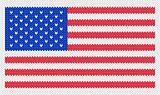 Knitted american flag pattern. EPS 8 vector illustration.