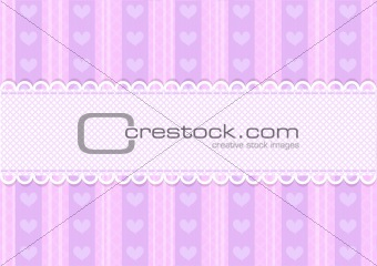 Vector pink and purple cute heart background