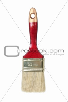 Paintbrush studio isolated on a white background