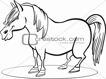 Cartoon pony horse coloring page