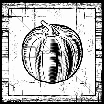 Retro pumpkin black and white