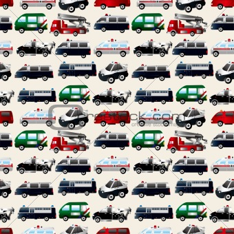 different types car seamless pattern