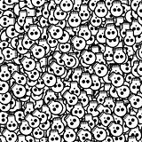 halloween background will skulls