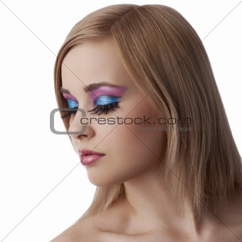 alluring beauty portrait with make up