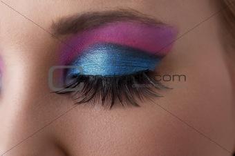 one eye closeup