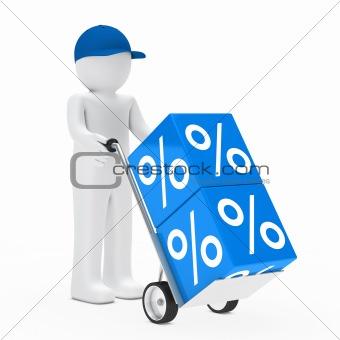 man hand truck sale cube