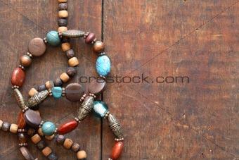 Costume Jewelry On Wood