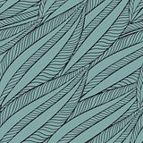 vector seamless pattern with funky leaves