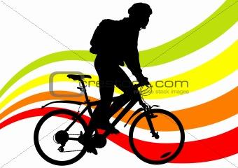 One cyclist boy
