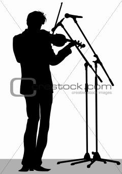 Violinist at concert
