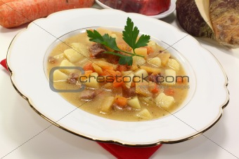 fresh cooked Turnip stew